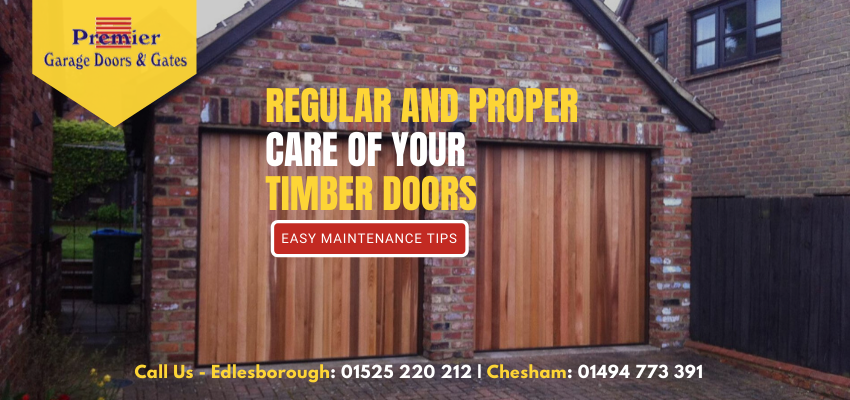 5 Easy Ways to Enhance the Life of Your Timber Garage Doors